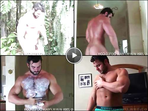 muscular hairy gay men video